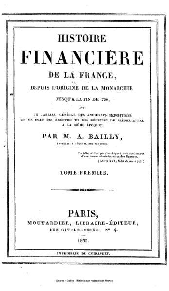 File:Bailly - Histoire financière de la France, depuis les origines de la monarchie jusqu'à la fin de 1786, tome 1.djvu