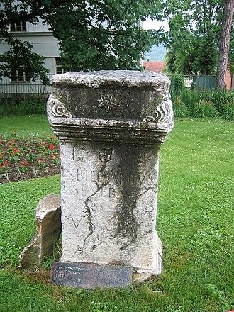 Bajina Bašta - Roman ruins in downtown Bajina Bašta.