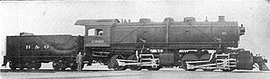 Mallet locomotive - B&O No. 2400, the first American Mallet