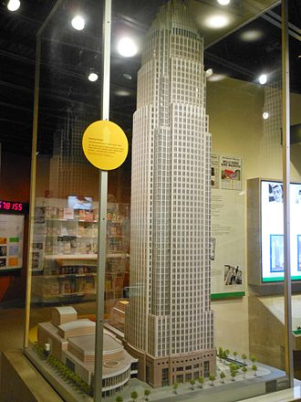 Bank of America Corporate Center - Bank af America Corporate Center architectural model at Levine Museum of the New South