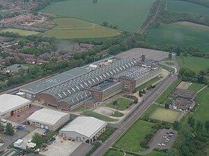 De La Rue - The Debden Security Printing Ltd printing facility, owned by De La Rue, which prints Bank of England banknotes.