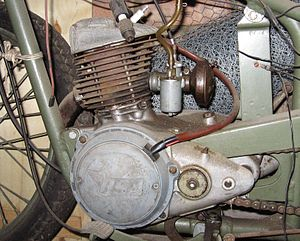 BSA Bantam - 125 cc engine on a Bantam D1