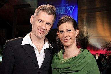 Barbara Willensdorfer, Gernot Plass - TAG - Nestroy-Theaterpreis 2012.jpg