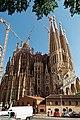 Barcelona - Carrer de Sardenya - View ESE on La Sagrada Família - Passion façade.jpg