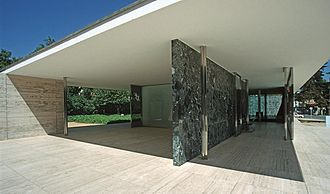 Ludwig Mies van der Rohe - Barcelona Pavilion, 1929. (reconstruction)