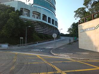 Barker Road - Eastern end of Barker Road near Peak Road