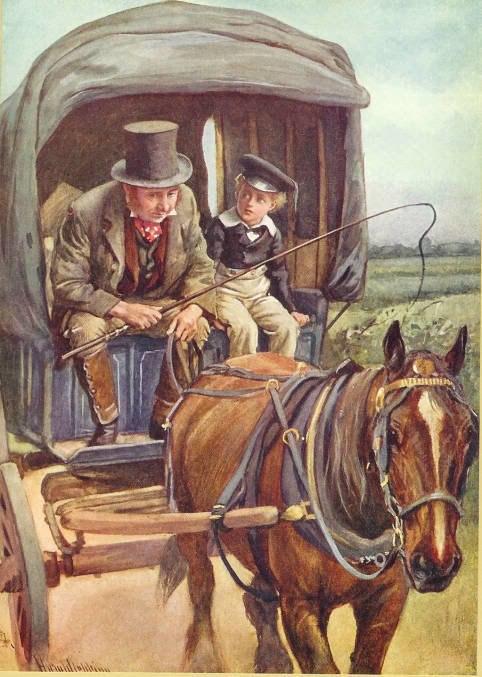 Barkis conduit David à Yarmouth (Harold Copping).jpeg