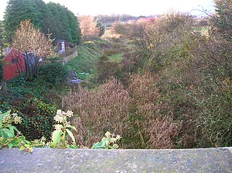 Barrmill, North Ayrshire - The railway cutting beyond Barrmill station facing Beith, near the old Junction with the Dockra mineral line
