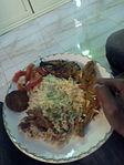 Bashmati Rice with Hilsha fish, traditional food of Dhaka,2014.jpg