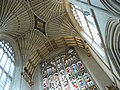 Bath Abbey, ceiling and stained glass - geograph.org.uk - 717408.jpg
