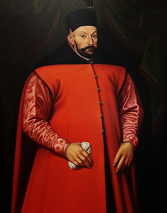 Stephen Báthory - A 16th-century portrait attributed to Martin Kober representing Stephen Báthory in decorative Sarmatian attire