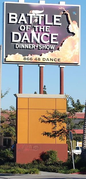 Battle of the Dance - Image: Battle Of The Dance Sign