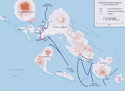 Battle of New Georgia map
