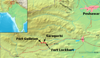 Battle of Saragarhi - The map of the battle site