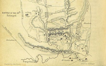 A map of the battle Battle of Sorauren map.jpg