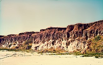 Weipa, Queensland - Bauxite section on kaolinitic sandstone , 1969