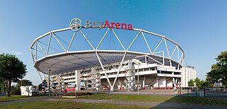 Bayer 04 Leverkusen - BayArena, the stadium of Bayer Leverkusen