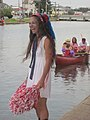Bayou St John 4th of July Cheerleader.JPG
