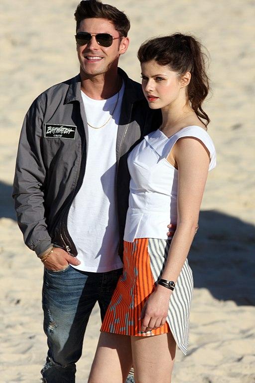 File:Baywatch Movie Launch Zac Efron, Alexandra Daddario ... Zac Efron
