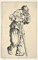 Bearded man, dressed in rags, holding his head with one hand and a walking stick with the other, from the series 'The beggars' (Les gueux) MET DP833459.jpg