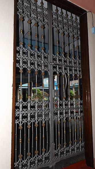 Beaterio de Terciarias Agustinas Recoletas - Spanish steel grill gate, the oldest remnant of the old Beaterio.