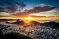 Beautiful sunrise in Rio with Sugarloaf Mountain 1.jpg