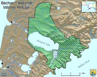 Becharof National Wildlife Refuge - FWS map of Becharof NWR
