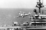 Bell XV-15 takes off from USS Tripoli (LPH-10) in 1983.jpeg