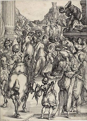 Jacques Bellange - The Adoration of the Magi, at 596 x 429 mm, is Bellange's largest print.