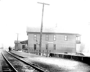 Belmont, New York - Railroad station in Belmont, New York, 1909
