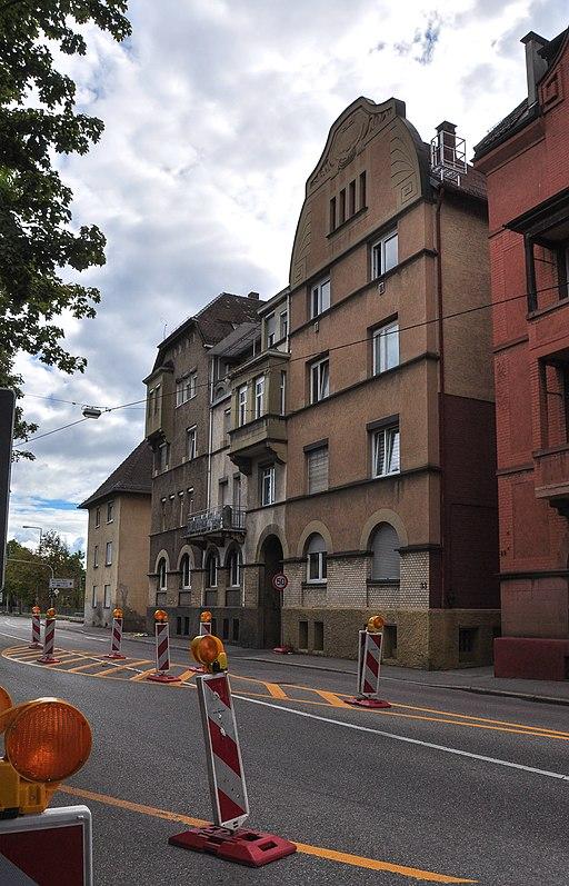 Benzstraße 29-33 (Stuttgart-Untertürkheim) Nordostfassaden