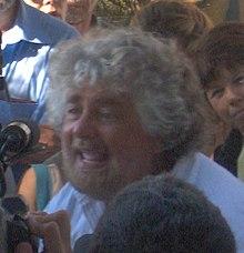 Beppe Grillo alla tenuta di San Rossore (Pisa) il 20 luglio 2006