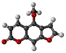 Bergapten (5-methoxypsoralen) - 3D - Ball-and-stick Model.png