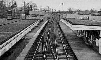 Berkswell railway station - The station in 1962