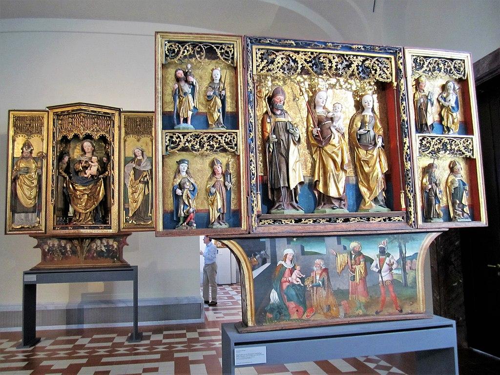 Retables médievaux au musée Bode à Berlin - Photo de Bärwinkel,Klaus.