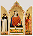 Bernardo Daddi (Italian (Florentine) - Madonna, Saint Thomas Aquinas, and Saint Paul - Google Art Project.jpg