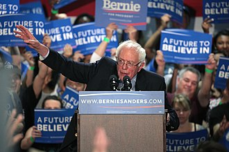 """2016 Democratic National Convention - Democratic presidential candidate Bernie Sanders greatly influenced the party platform adopted at the convention, described by political commentators as the """"most progressive"""" in the party's history."""