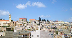 Bethlehem skyline from Church of the Nativity