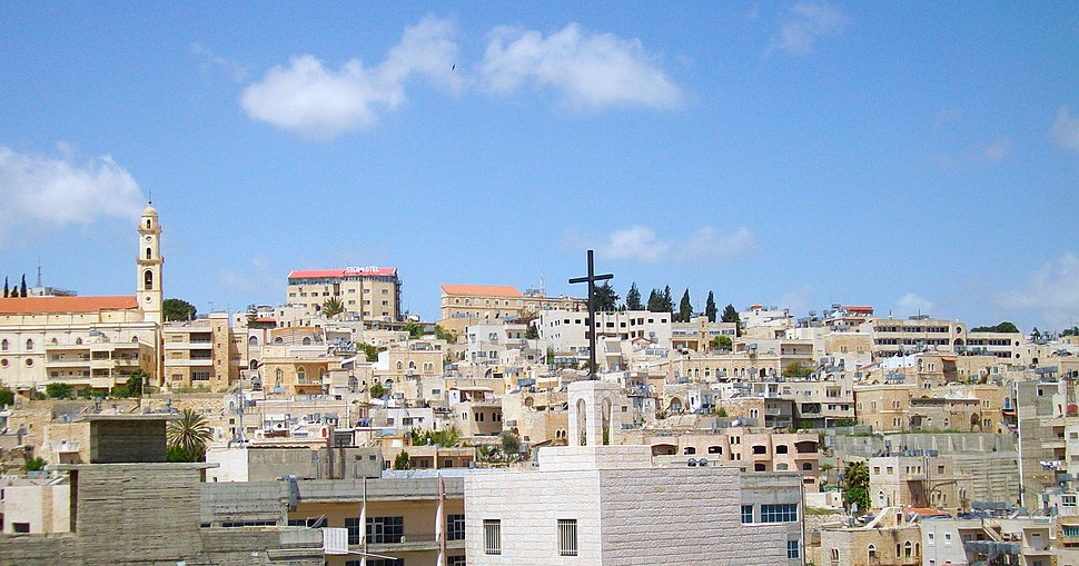 Bethlehem skyline from Church of the Nativity