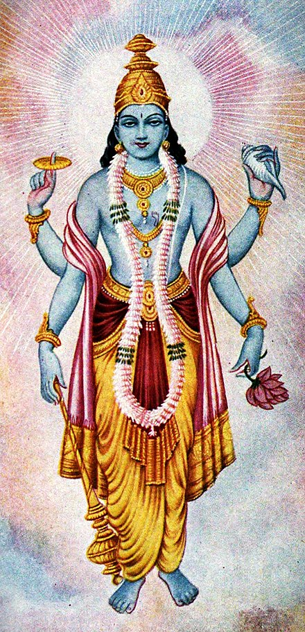 Depiction of Lord Vishnu Bhagavan Vishnu.jpg