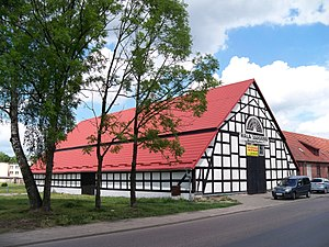 Białogard - Former city granary made from a timber frame