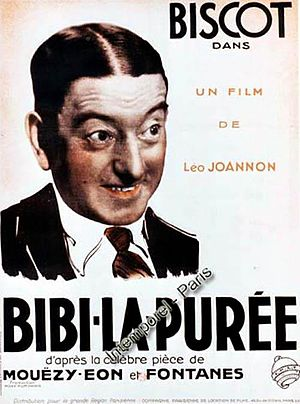 Georges Biscot - Biscot on a poster for the film Bibi la Puré