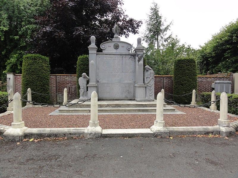 Bichancourt (Aisne) monument aux morts