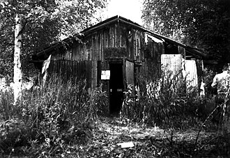 National Register of Historic Places listings in Yukon–Koyukuk Census Area, Alaska - Image: Biederman Camp Main Cabin, Eagle, Alaska