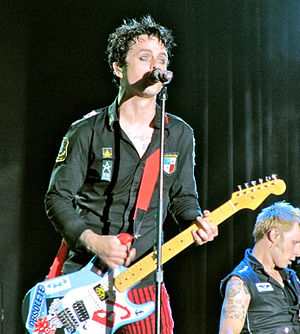"Billie Joe Armstrong - Armstrong performing in South American Tour with ""Blue"" copy in 2010"