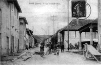 Biol, la grande rue, 1908, p 11 l'Isère les 533 communes - photo .tif