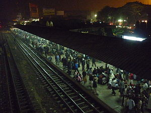 Bishwa Ijtema - Image: Bishwa Iztema Dhaka Airport Rail Staion by Mayeenul Islam
