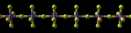 سلسلة بوليميرية من خماسي فلوريد البزموت
