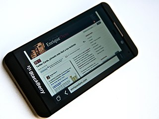 BlackBerry Z10 smartphone model manufactured by BlackBerry