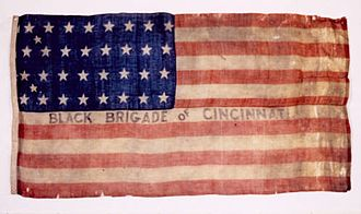 Black Brigade of Cincinnati - 1862 Black Brigade of Cincinnati Flag